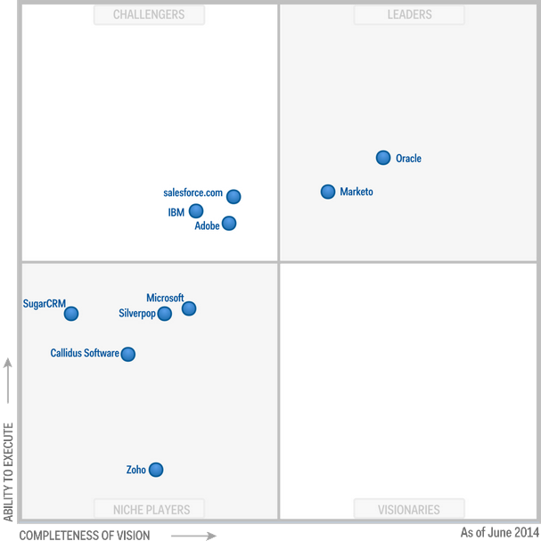 Magic Quadrant for CRM Lead Management 2014 (G00262064)