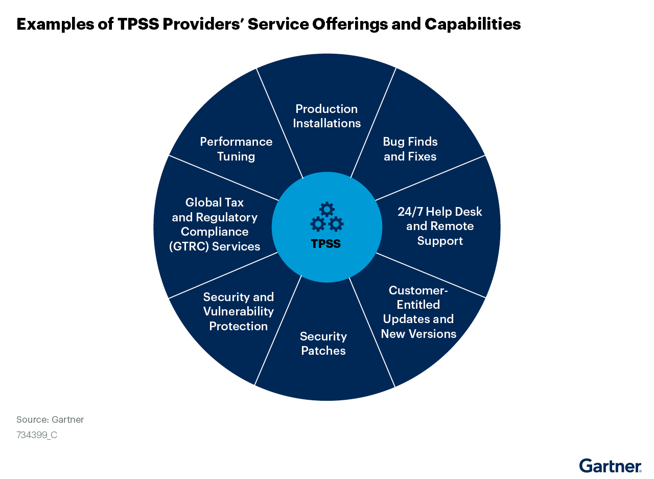 Figure 2: Examples of TPSS Providers' Service Offerings and Capabilities