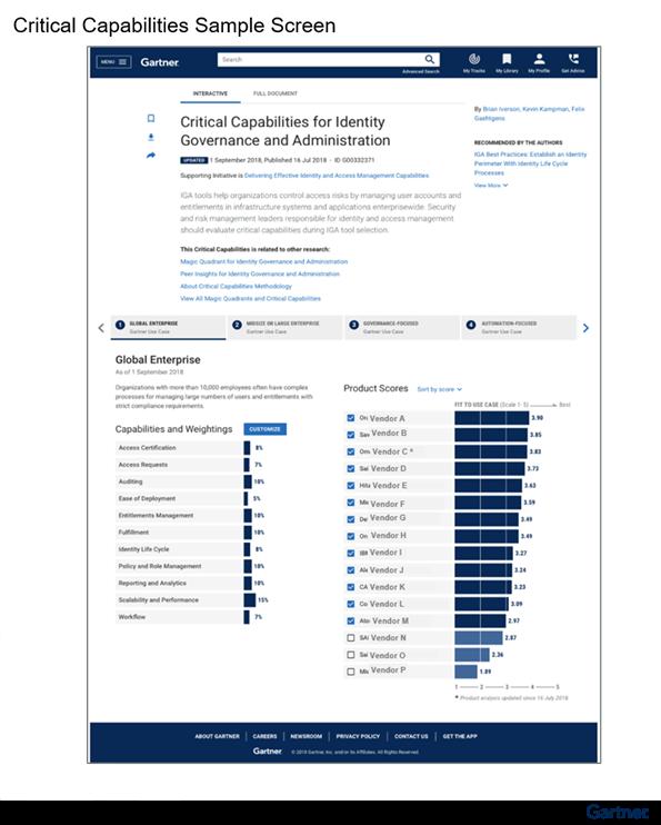Figure 1. Critical Capabilities Sample Screen